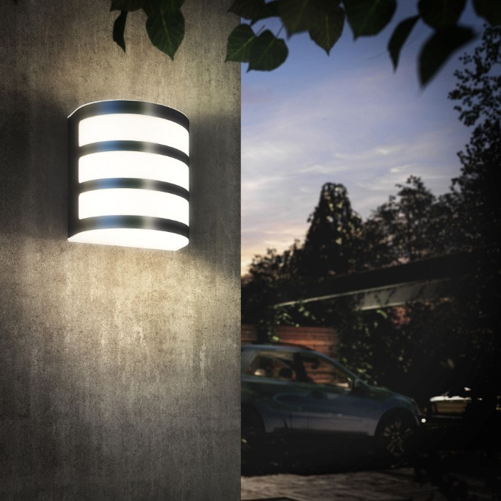 Philips Außenwandleuchte MYG Calgary LED Wandaussenleuchte Edelstahl 270lm