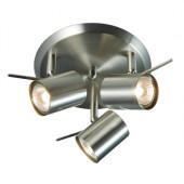 Hyssna Ø 25 cm metallisch 3-flammig rund