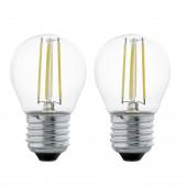 LED Leuchtmittel 2er-Set E27 4 W 350 lm 2700 K