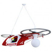 """Feuerwehrhelikopter mit """"Fred"""", E27, rot"""