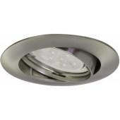 LED Einbauleuchten 3er-Set Ø 8,2 cm metallisch 1-flammig rund