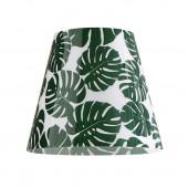 Green Jungle Design-Lampenschirm grün rund
