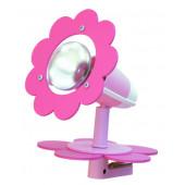 Blüte, E14, mit Schalter, mit Klemme, rosa