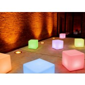 Cube LED Pro Accu, Farbwechsel, Höhe 45 cm, Fernbedienung