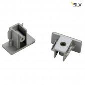 Endkappen für 1-Phasen HV-Stromschiene, 2er Set, silber