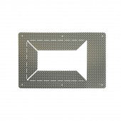Unterputzrahmen Downunder II und III metallisch rechteckig