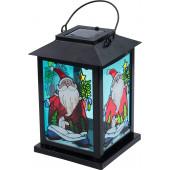 Santa Claus Höhe 21 cm schwarz 1-flammig eckig
