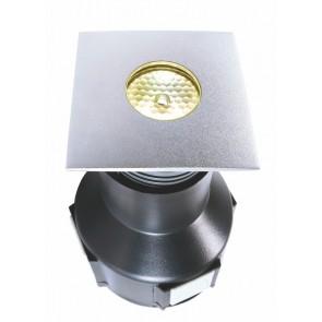 LED, 2 W, quadratisch, warmweiß