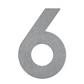 Hausnummer 6, Edelstahl