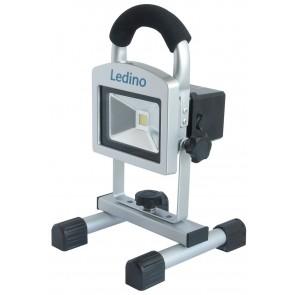 LED-Akkustrahler 10W Köpenick 102, 2,2 Ah, sillber