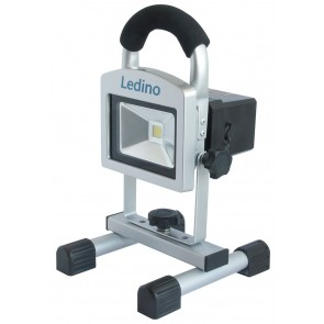 LED-Akkustrahlerset 10W Köpenick 10S, 2x5,2 Ah, sillber