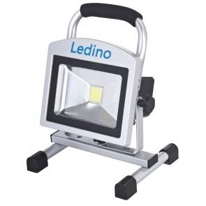 LED-Akkustrahlerset 20W Köpenick 20S, 2x10,4 Ah, sillber