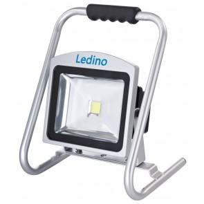 LED-Akkustrahler 30W Köpenick 309, 8,8 Ah, sillber