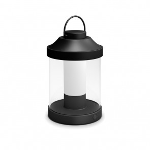 MYG Tragbare LED Laterne Abelia Schwarz