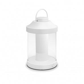MYG Tragbare LED Laterne Abelia Weiß