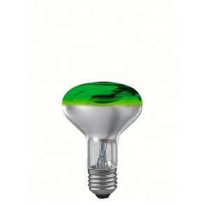 R80 E27 60W 8 cm, grün