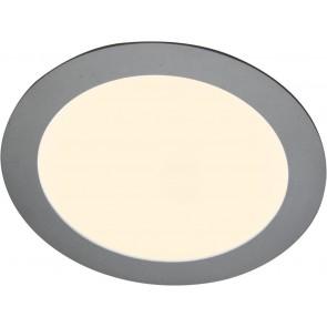 LED Panel, Ø 14,5 cm, dimmbar, warmweiß, metallisch