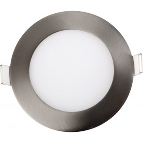 LED, 9W, rund, satin, nickel, einstellbar