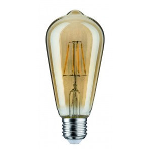 LED Rustika (ST64) 5W E27 230V Gold 2500K