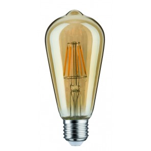 LED Rustika (ST64) 7,5W E27 230V Gold 2500K