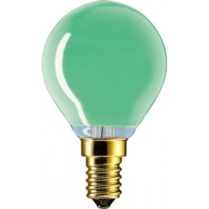 Partylampe Tropfen farbig, E14, 1000 Std, dimmbar, 15W, grün