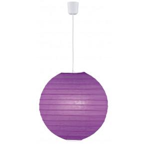 Paper Ø 40 cm violett 1-flammig kugelförmig