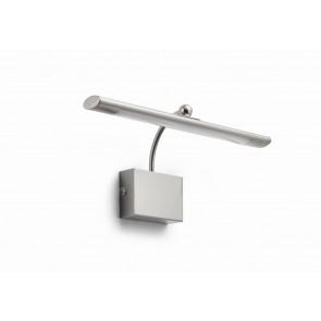 MYL Mahogany LED Wandl Stahl gebürstet 450lm, L 30,4 cm