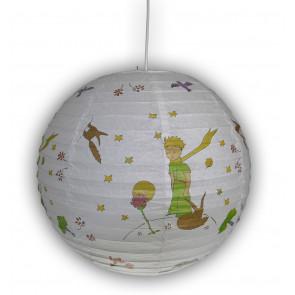 Papierballon Prinz Ø 40 cm weiß 1-flammig kugelförmig