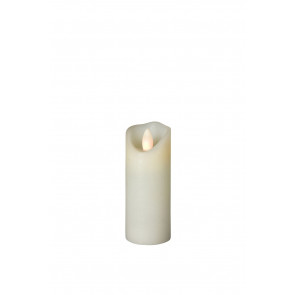 SHINE LED 5x15 elfenb, schmal Echtwachs mit Timer, Fernbedienung exkl.