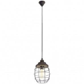 Bampton, Stahl- Holz, Ø 18 cm, braun-patina
