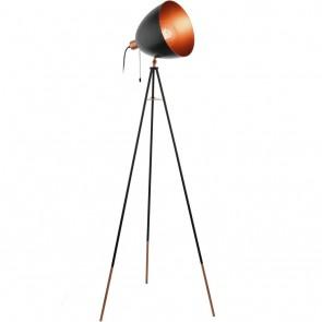 Chester, Höhe 135,5 cm, schwenkbar, schwarz-kupfer
