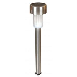 LED-Solar-Erdspieß Höhe 35,5 cm metallisch 1-flammig rund