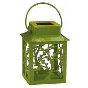 Laterne Höhe 13 cm grün 1-flammig eckig