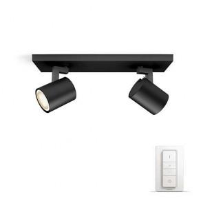 Runner, LED, 2-flammig, Inkl. Dimmschalter, Farbtemperatur änderbar, Schwarz