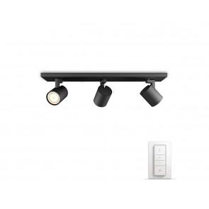 Runner, LED, 3-flammig, Inkl. Dimmschalter, Farbtemperatur änderbar, Schwarz