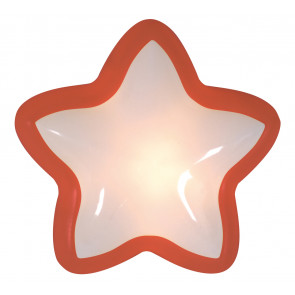 Stern Touch Ø 14 cm rot 1-flammig eckig
