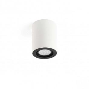Nan Ø 7 cm weiß 1-flammig zylinderförmig