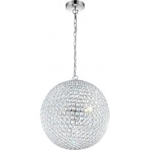 Emilia, LED, Ø 40 cm, Kristall, chrom