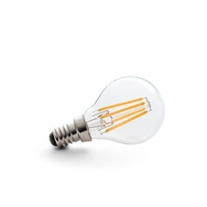 E14 LED Filament warm weiß, klares Glas 4W, 2700K, dimmable