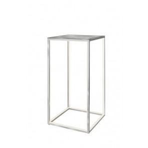 Delux Tisch, 60 x 30 x 30 cm, mit Glasplatte