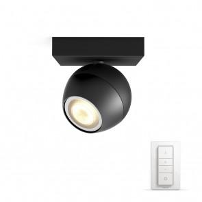 Buckram, LED, 1flg. 250lm, schwarz, inkl. Dimmschalter
