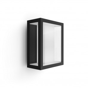 White & Col. Amb. Impress Höhe 24 cm schwarz 1-flammig eckig