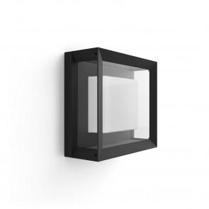 White & Col. Amb. Econic Wandleuchte quadratisch schwarz 1150lm