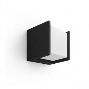 White Fuzo Wandleuchte quadratisch schwarz 1150lm