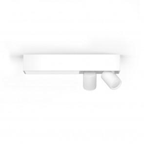 White & Col. Amb. Centris Länge 40,8 cm weiß 2-flammig rechteckig