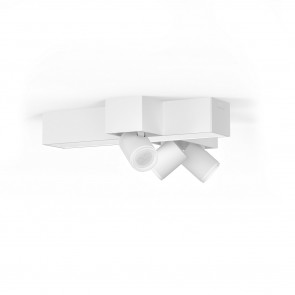 Centris Cross Länge 40,8 cm weiß 3-flammig quaderförmig