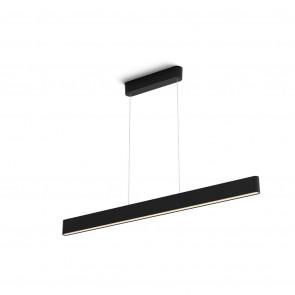 White & Col. Amb. Ensis Länge 129.8 cm schwarz 2-flammig rechteckig