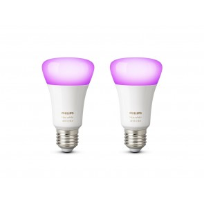 White & Color Amb. LED E27 Doppelpack, 2x9,5W, Bridge erforderlich