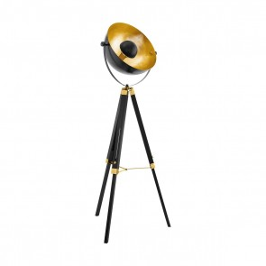 Covaleda, Ø 55cm, schwenkbar, schwarz-gold