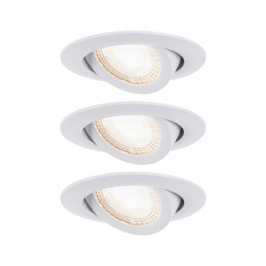EBL 3er-Set Ø 8,2 cm weiß 1-flammig rund